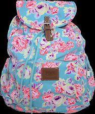 Victoria's Secret PINK ~Full-Size Backpack~ Light Blue Floral flowers large bag