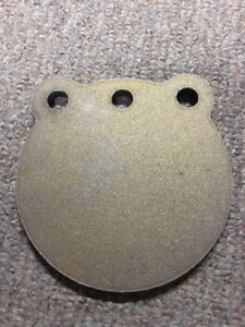 """A36 Steel Target Gong 8"""" x 5/8"""" Three Hole Pistol Plate IDPA! WITH FREE HOOKS!"""