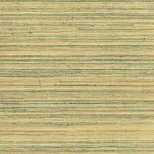 Wallpaper Designer Natural Real Grasscloth Sisal Sea Grass Green and Tan Beige