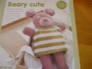 KNITTING PATTERN FOR BEAR WITH DRESS .TOY.