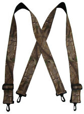 New Realtree Men's Big and Tall Camouflage Suspenders with Swivel Clips USA Made