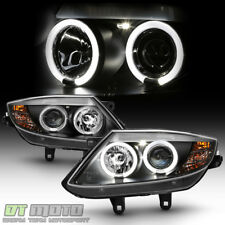 2003-2008 BMW Z4 Black LED Halo [HID Version] Projector Headlights Headlamps Set
