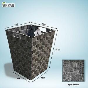 ARPAN Waste Paper Bin Grey Nylon