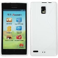 Silicone Case for Huawei Ascend P1 S-Style white + protective foils