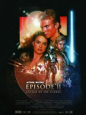 Vintage Star Wars Attack of the Clones Poster Episode 2 (2002) 24 x 36 inches