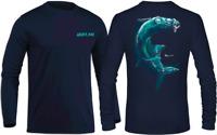 Long sleeve microfiber fishing boating UPF 30 sun shirt Tarpon