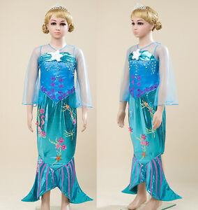 Ariel La la Petite Sirène Robe Carnaval Robe Up Costumes Peu Mermaid ARE010