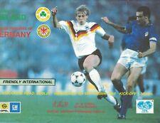 REPUBLIC OF IRELAND (EIRE) v WEST GERMANY 6th September 1989 Friendly