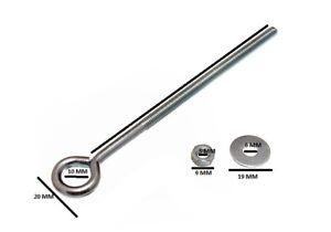 Occhio Bullone + Dadi e Rondelle M6 6mm X 150mm BZP Impermeabile (Confezione 10)