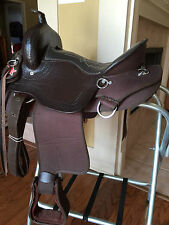 "15"" TN Saddlery Light Weight Western Saddle Brown Synthetic Gaited"
