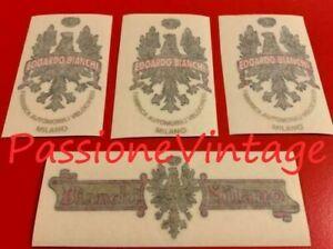 BIANCHI Serie R decalcomanie  /stickers/adesivi
