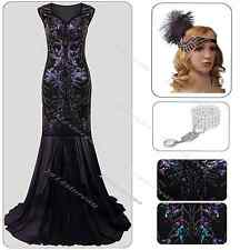 1920's Flapper Dress Gatsby 1920s Charleston Sequin Roaring 20s Costume Clubwear