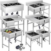 Lavello Cucina Lavandino 1,2,3 Vasca Bucato Supporto Fatto A Mano Da Incasso