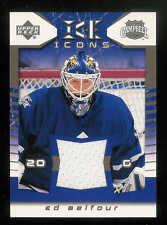2003-04 UPPER DECK ICE ICONS JERSEYS ED BELFOUR JERSEY TORONTO MAPLE LEAFS #I-EB