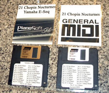 24 Chopin Nocturnes in Both MIDI & Yamaha PianoSoft E-Seq format on 2SDD Floppy