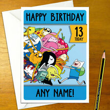ADVENTURE TIME Personalised Birthday Card - personalized jake finn cartoon king