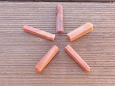 RED AVENTURINE SINGLE TERMINATED GEMSTONE CRYSTAL PENCIL POINT (ONE)