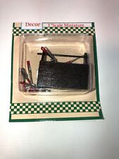 """Dollhouse Miniature Toolbox With Tools 1"""" Scale New In Box"""