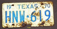 TEXAS 1970 antique license plate 619