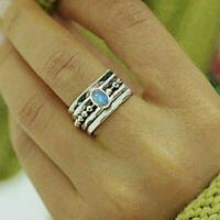 Opal Gemstone Spinner Ring 925 Sterling Silver Spinner Ring All Size MM-414