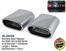 Conseils d'échappement l'échappement mic en acier inoxydable pour BMW X5 3.0 E53 99-06