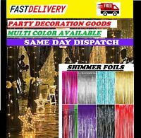 NEW TINSEL SHIMMER FOIL DOOR CURTAIN WEDDING BIRTHDAY PARTY DISCO DECORATIONS