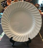 SHEFFIELD BONE WHITE SWIRL DESIGN USA DINNER PLATES - SET OF FOUR