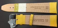 haute qualité cuir véritable Bracelet montre en jaune 18 mm, essentiel
