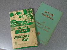 FORDSON 10CWT INSTRUCTION BOOK - FORD MOTOR CO 1949 - P/B - UK POST £3.25