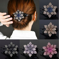 Women Rhinestone Flower Duckbill Hair Claw Hair Accessories Headwear Hairpin