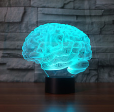 3D Human Brain Cerebellum Model Table Lamp Color Changing LED Night Light Gift