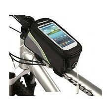 Cycling Bike Bicycle Front Tube Trame Bag For iPhone 5 4S 4 Samsung Mobile Green
