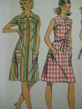Vintage Simplicity 5028 Smock Dress Sewing Pattern Women Size 16/38