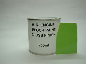 1 x 250ml Lime Green Gloss Heat Resistant To 200c Engine Caliper Enamel Paint