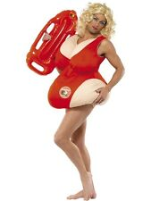 MENS PADDED BAYWATCH LIFEGUARD OUTFIT CHUBBY SWIM SUIT FANCY DRESS COSTUME STAG