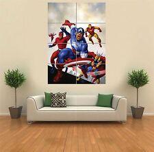 AVENGERS CAPITAN AMERICA THOR IRON MAN GIGANTE art print poster muro G1150