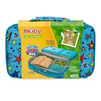 Nuby Boys Insulated Bento Box - Travel Friendly - Lunchbox - Leakproof- BPA Free