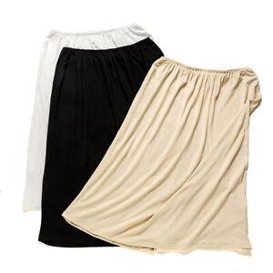 Women Modal Half Slip Safety Skirt Dress Petticoat Underskirt Underdress Soft J1