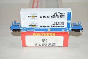 N scale Walthers 65th Anniversary Thrall 48' containers well car train w/ MTL's