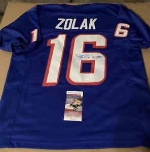 Scott Zolak Autographed Signed Patriots Blue Custom Jersey JSA