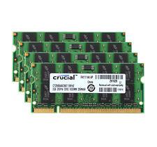 8GB Crucial 4x 2GB 2RX8 DDR2 667MHz PC2-5300S 200pin SODIMM Intel Laptop Memory