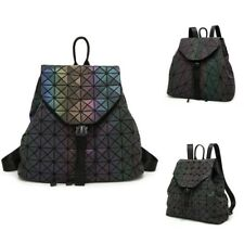 5f087f4b07a0 Luminous Backpack Diamond Lattice Bag Geometric Fashion Travel School Bag