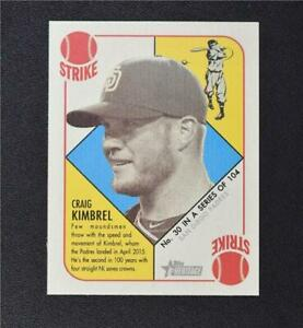2015 Topps Heritage '51 Collection Mini Red Back #30 Craig Kimbrel - NM-MT