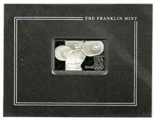 Franklin Mint Sterling Silver 1984 Olympics Postal Stamp Weight Lifting! #I2071