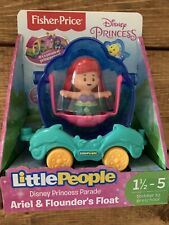 Fisher Price Little People Ariel & Flounders Float Disney Princess NEW Free Ship