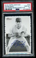 2018 Topps Heritage High Javier Baez 1969 Deckle Edge #15 PSA 10 Chicago Cubs