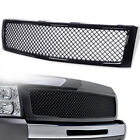 Front Bumper Hood Grille Glossy Black For 2007-2013 Chevy Silverado 1500