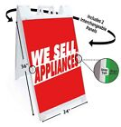 WE SELL APPLIANCES Signicade 24x36 Aframe Sidewalk Sign Banner Decal ELECTRONICS photo