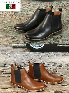 Ladies Chelsea Boots Leather Ankle Cipriata 'Alexandra' size 3,4.5,6,7,8,9 🇬🇧