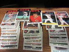1986 Topps Cincinnati reds team set